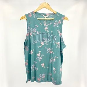 Lucky Brand Floral Tank NWT Size Large